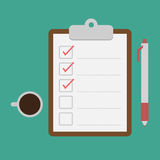 Clipboard and checklist Royalty Free Stock Photo
