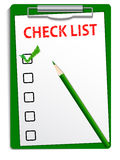 Clipboard checklist Royalty Free Stock Image