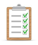 Clipboard and checklist Stock Image
