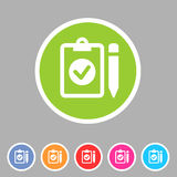 Clipboard checklisticon flat web sign symbol logo label Royalty Free Stock Photo