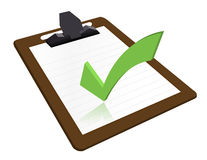 Clipboard with checkmark. Illustration design over a white background royalty free illustration