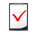 Clipboard with checkmark Royalty Free Stock Photography