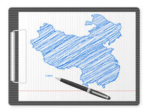 Clipboard China map Stock Photography