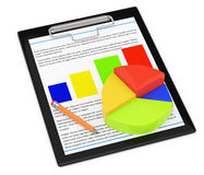 Clipboard with diagram Royalty Free Stock Photos