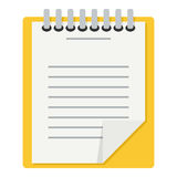 Clipboard with Document Flat Icon on White Stock Image