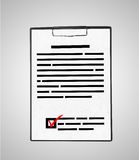 Clipboard with document Stock Photography