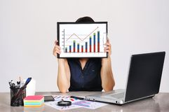 Clipboard with drawing chart Stock Photo