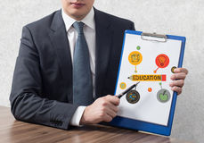 Clipboard with education Stock Photography