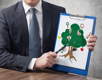 Clipboard with education tree Stock Photos