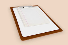 Clipboard with empty paper sheets Stock Image