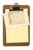 Clipboard, Envelope and Postcard Royalty Free Stock Photos