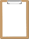 Clipboard flat. Clipboard paper list flat Royalty Free Stock Images