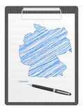 Clipboard Germany map Stock Images