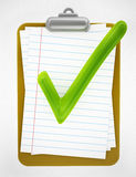 Clipboard with Green Tick Stock Image