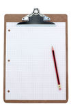 Clipboard and grid  paper Stock Photography