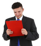 Clipboard guy Stock Images