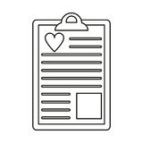 Clipboard heart report  thin line Stock Photography