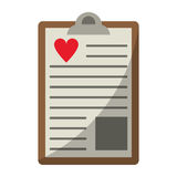 Clipboard heart report. Vector illustration eps 10 Royalty Free Stock Photography