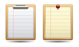 Clipboard icon. Note illustration Royalty Free Stock Photography