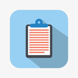 Clipboard icon. Design, vector illustration eps10 graphic Stock Image