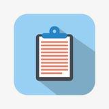 Clipboard icon Stock Image