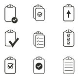 Clipboard icon set. Clipboard vector icons set. Black illustration isolated on white background for graphic and web design Vector Illustration