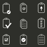 Clipboard icon set. Royalty Free Stock Photography