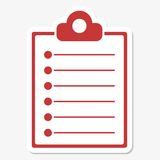 Clipboard Icon Sticker Royalty Free Stock Photography