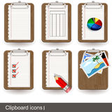 Clipboard icons 1 Royalty Free Stock Image