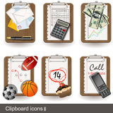 Clipboard icons 2 Stock Photo