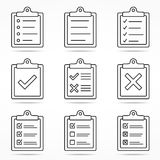 Clipboard Icons Stock Image
