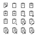 Clipboard icons Royalty Free Stock Photos
