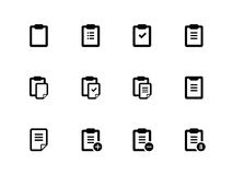 Clipboard icons on white background. Royalty Free Stock Photography