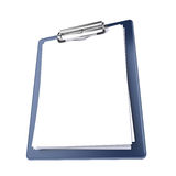 Clipboard isolated. On white - 3d render Stock Image