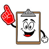 Clipboard Mascot with Foam Finger Royalty Free Stock Photos