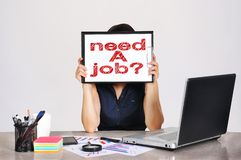 Clipboard with need a job Stock Image