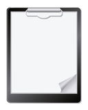 Clipboard with paper. Royalty Free Stock Photo