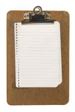 Clipboard and Paper Royalty Free Stock Images