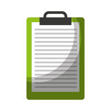 Clipboard paper isolated icon Stock Image