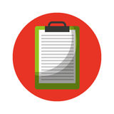Clipboard paper isolated icon Royalty Free Stock Images