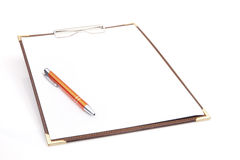 Clipboard with Pen Royalty Free Stock Images