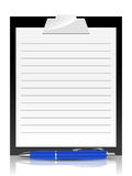 Clipboard with pen Stock Image