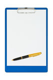 Clipboard and pen Stock Image