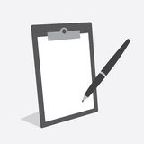 Clipboard Pen Blank Royalty Free Stock Images