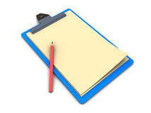 Clipboard with pencil Royalty Free Stock Images