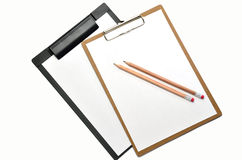 Clipboard and pencil. Stock Image