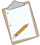 Clipboard and pencil Stock Images
