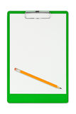 Clipboard and pencil Royalty Free Stock Image