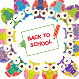 Clipboard with pencil, back to school, Funny Royalty Free Stock Image