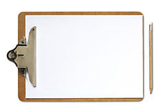 Clipboard and pencil Stock Image